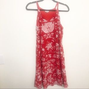 Westport Red Embroidered Tank Dress
